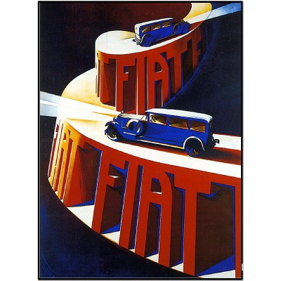 FIAT Advertising poster
