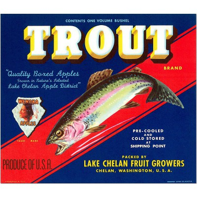 Trout Brand - Vintage poster