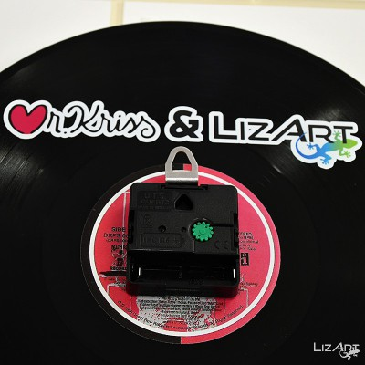 Vinyl wall clock by Mr....